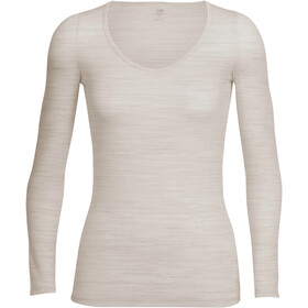 Icebreaker Siren Camiseta Top Manga Larga Mujer, fawn heather